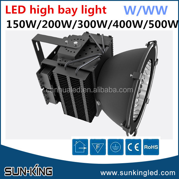 heat dissipation black shell white 5000k 6000k gymnasium hanging highbays 200W industrial led high bay light