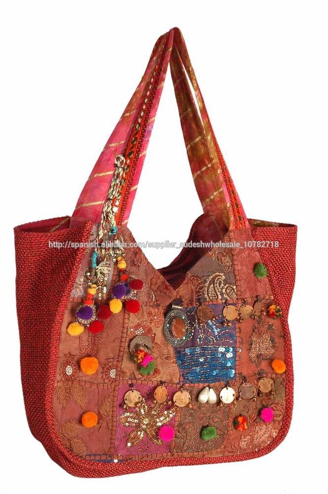 Indio étnico bolsas de venta al por mayor de la india, indio patchwork bolsos,