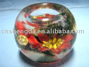 Tea Light Holder(jelly wax, glass), home decoration, candle holder, candles