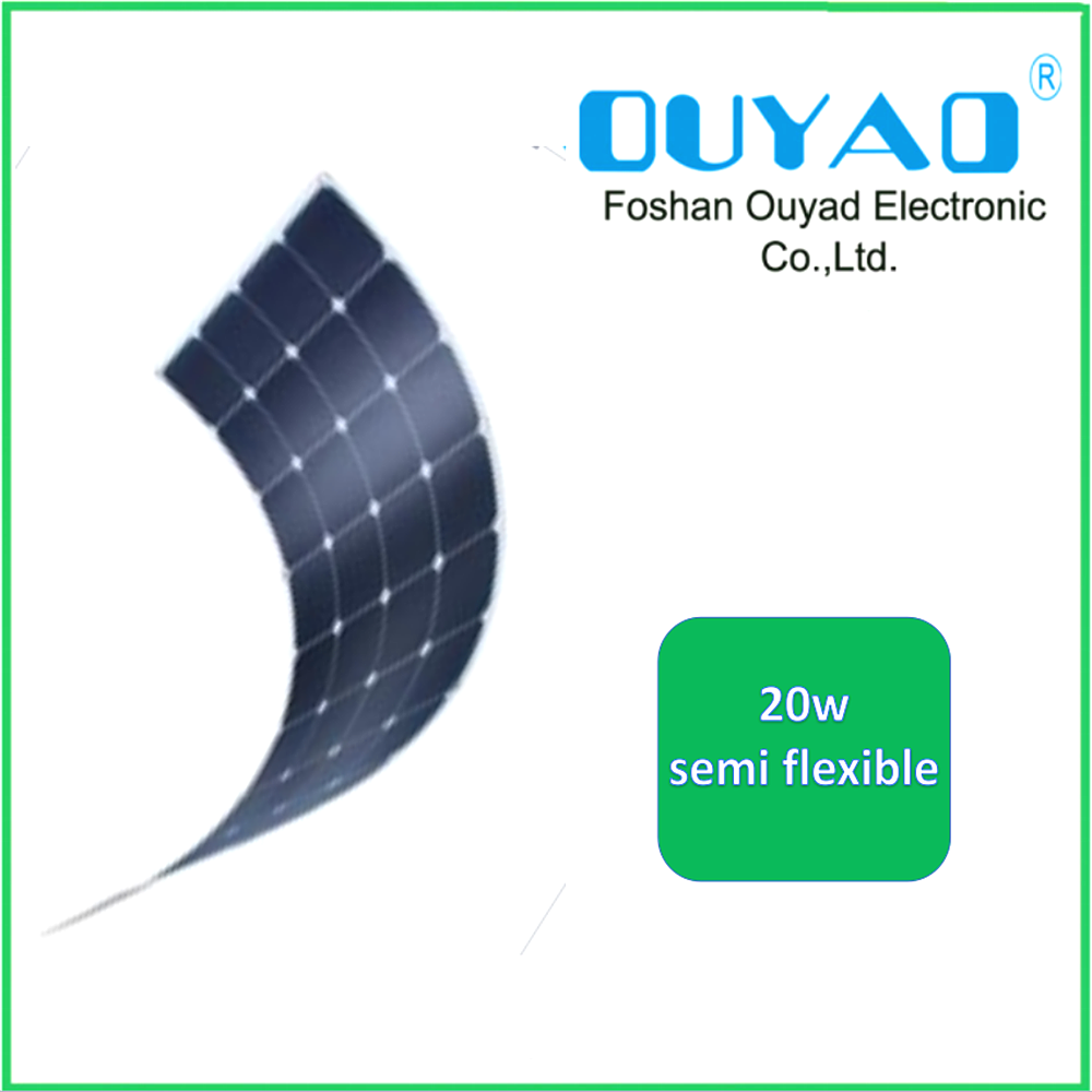 High efficiency Sunpower cell 20W Semi Flexible solar panel from China