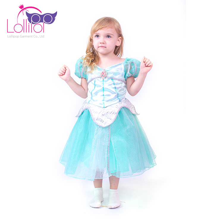 Wholesale kids cosplay carnival costume ariel princess masquerade fancy dress costumes