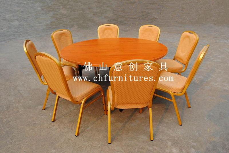 High quality wedding and banquet 6ft round pvc folding for 6ft round dining table