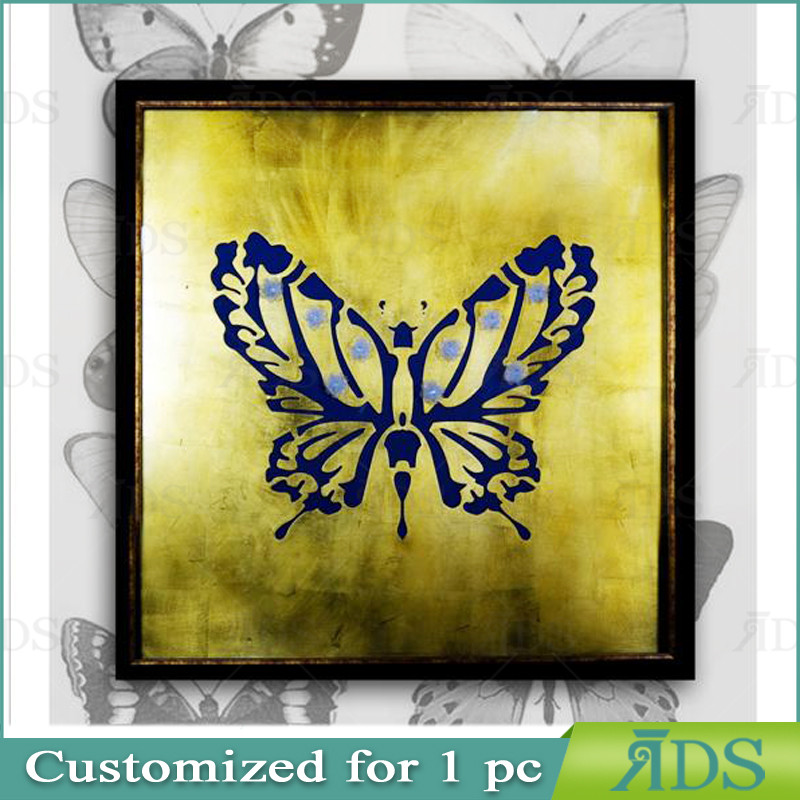 Framed Handmade Butterfly Home Goods Wall Art Canvas Painting - Buy ...