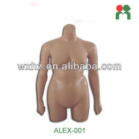 2015 Fashion fiberglass new female mannequin torso mannequin big breasted female ALEX-001