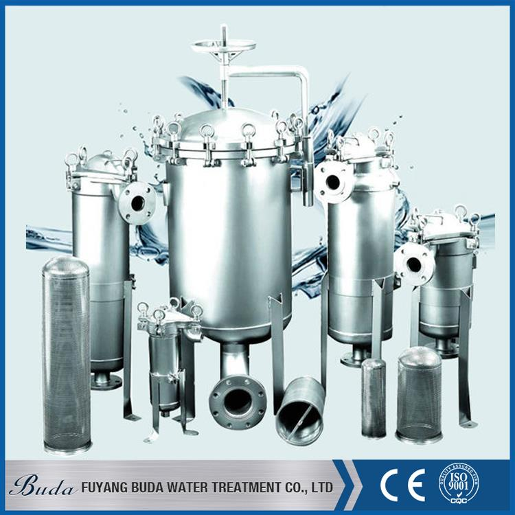 Multifunctional sanitary filter cartridge housing, activated carbon filter vessel, ss single pp bag filter housing
