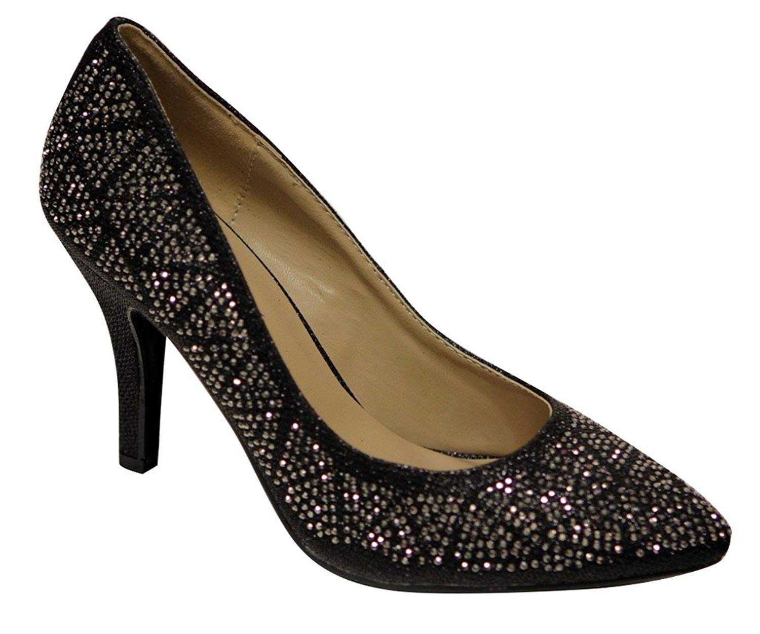 2b5e62becf Get Quotations · Delicacy Esco-97 Women's pointy toe beads glitter pumps  shoes
