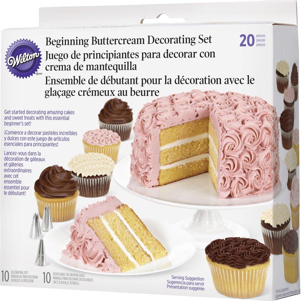 Wilton Beginning Buttercream Decorating Set, 20-Piece Cake Decorating Kit