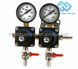 Beer double gauge Co2 Gas Regulator