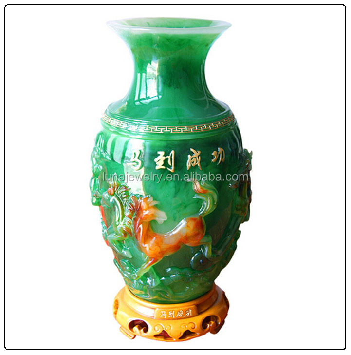 vase grande taille Grande taille Chinois 8 chevaux vases fengshui vase bon pour la décoration  de la maison