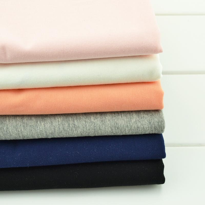 Spandex single jersey fabric for summer garment T shirt fabric 100% cotton