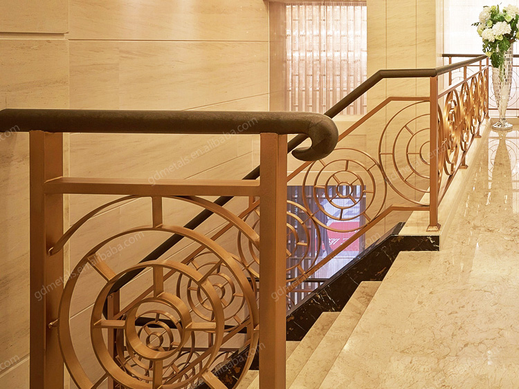 Customized stainless steel handrail design for stairs