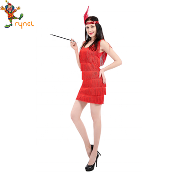 bc3104f997 Best Sale Fancy Dress 20s Red Flapper 1920s Fancy Dress Party Costume