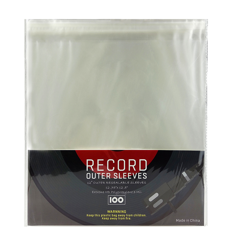 Super soft popular 3 mil LDPE turntable vinyl records storage outer sleeves for 12inch 7inch