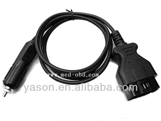 OBD2 Interface Cigar lighter to OBD2 Male