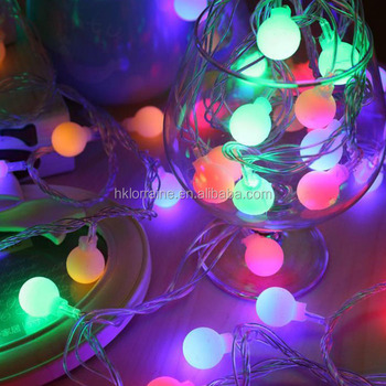 New Year Rgb 4m 28 Led Ball String Christmas Light Party Wedding Decoration Holiday Lights Buy Christmas Light Led Round Ball Christmas