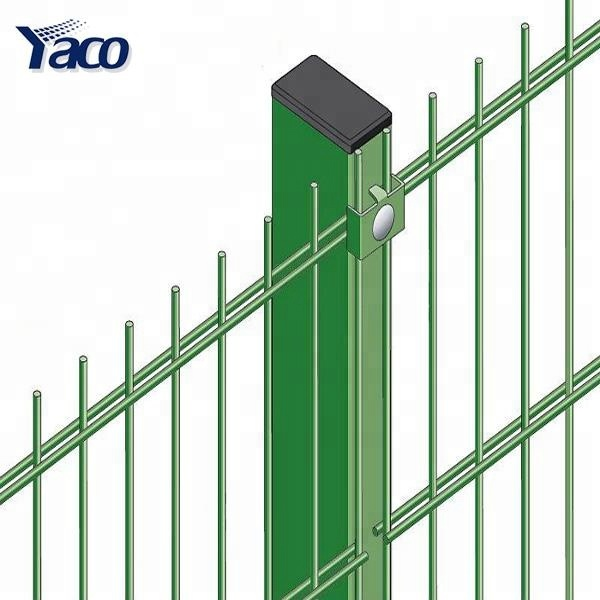 fencing mesh suppliers Double wire mesh fence, Pvc coated twin wire 868 fence panel, double rod wire mesh fence for sale
