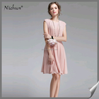 2015 Custom Made Ruffled Pink Korean Clothes Fashion