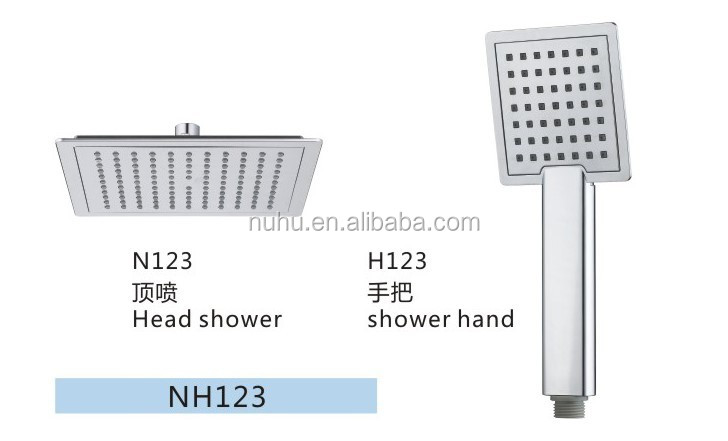 NH123 Yuyao factory Rain shower head and hand shower head, shower head combo