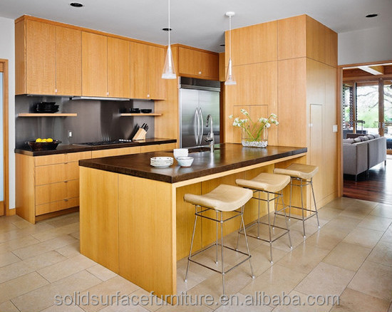 Modern Artificial Marble Dedicate Modular Kitchen Designs For Small Kitchens