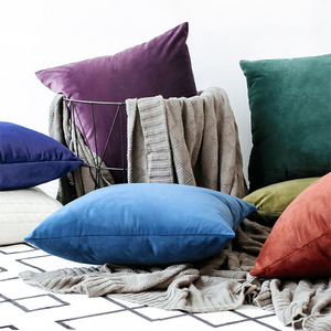 Solid Luxury Pillow Covers Cases Velvet Cushion Cover Decorative