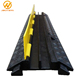 1000*250*50mm Rubber Yellow Jacket 2 Channel Cable Protection Cover