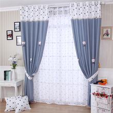 lovely pattern window curtains for children room