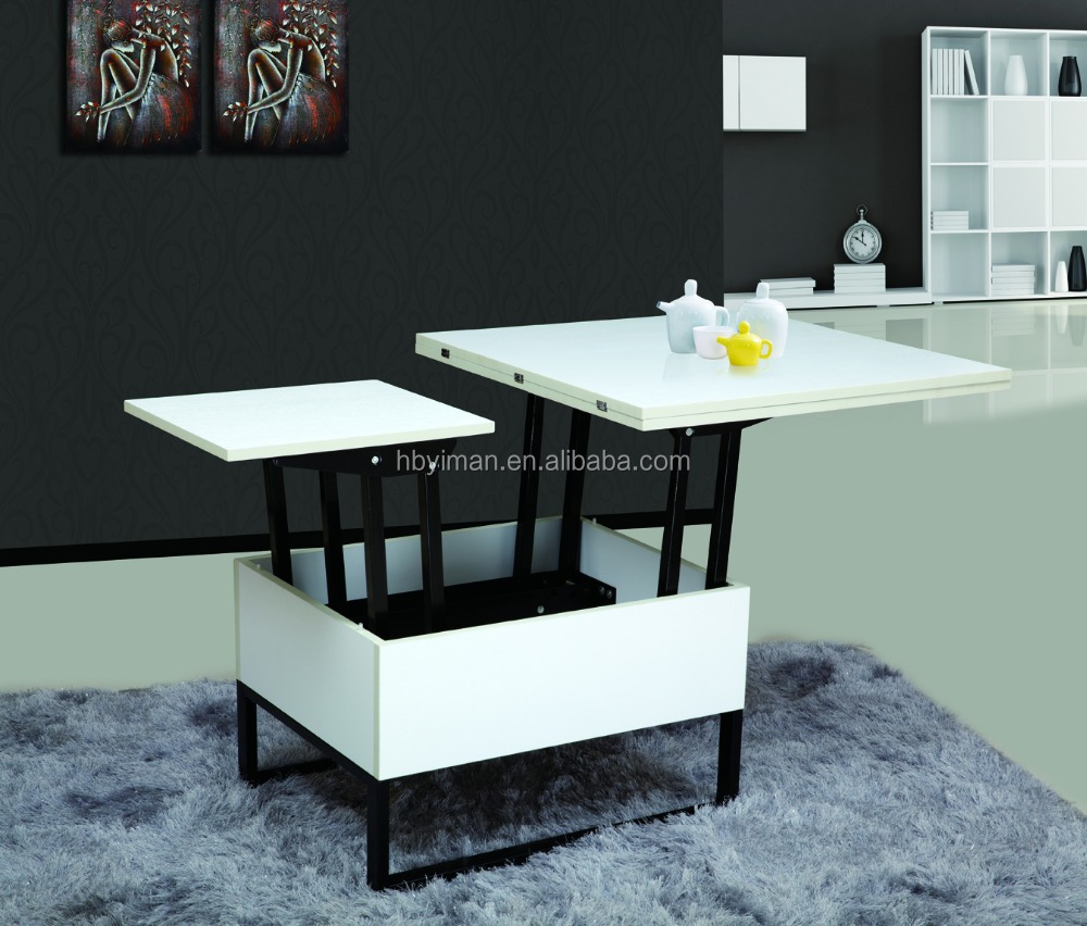 Liftable And Lowerable Melamine Board Coffee Table Buy Folding - Liftable table