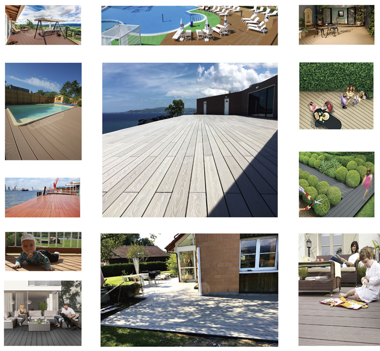 Wood Plastic Composite Waterproof Outdoor Deck Floor Covering For Garden