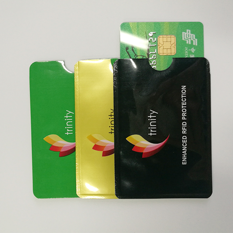 Account Card Protector Rfid blocking mouwen