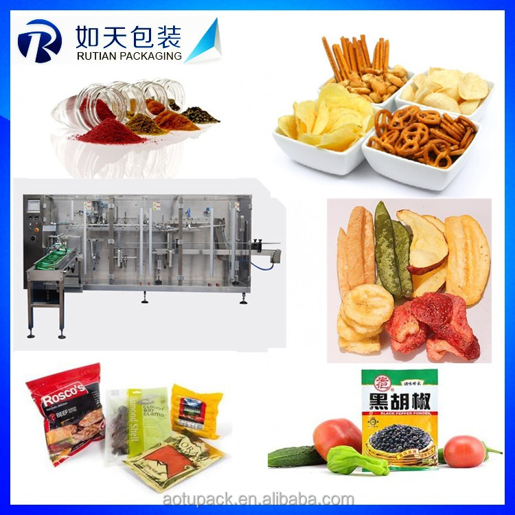 Automatic food weighing potato chips packing machine