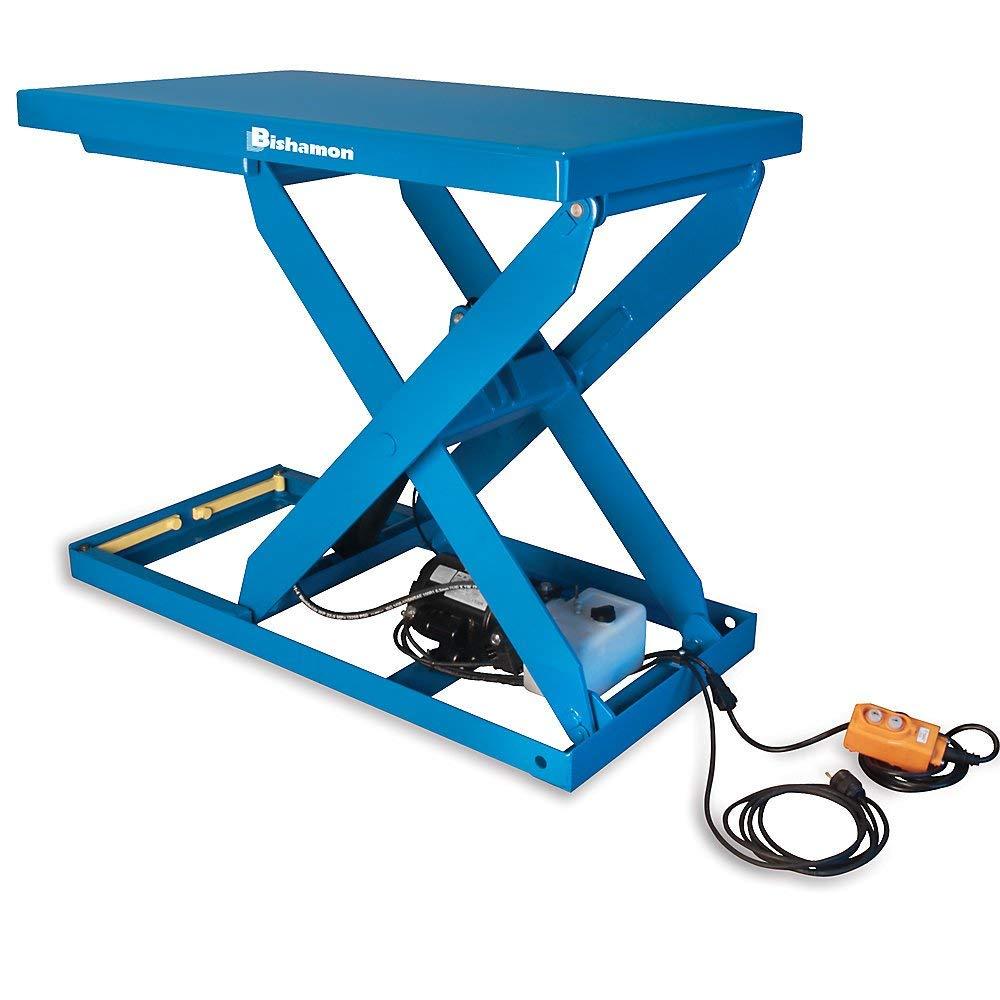 "Bishamon Optimus Hydraulic Scissor Lift Tables - 2000-Lb. Capacity - 36""Wx48""D Platform"