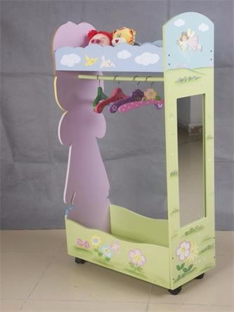 Factory direct selling health wooden kids clothes rack