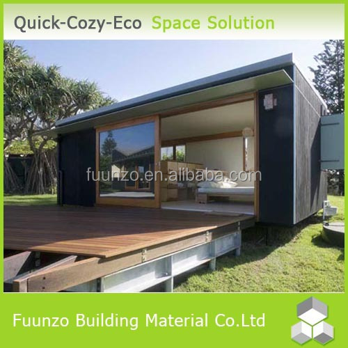 Prefabricated Decorated Green Small Wooden House Design with Electrical Circuit