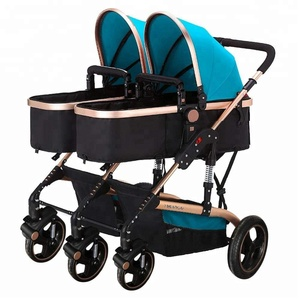 Manufacturer Oem 3-In-1 Lightweight Cool Pram 3 Wheel Foldable Doll Double Twin Newborn Baby Stroller From Japanese