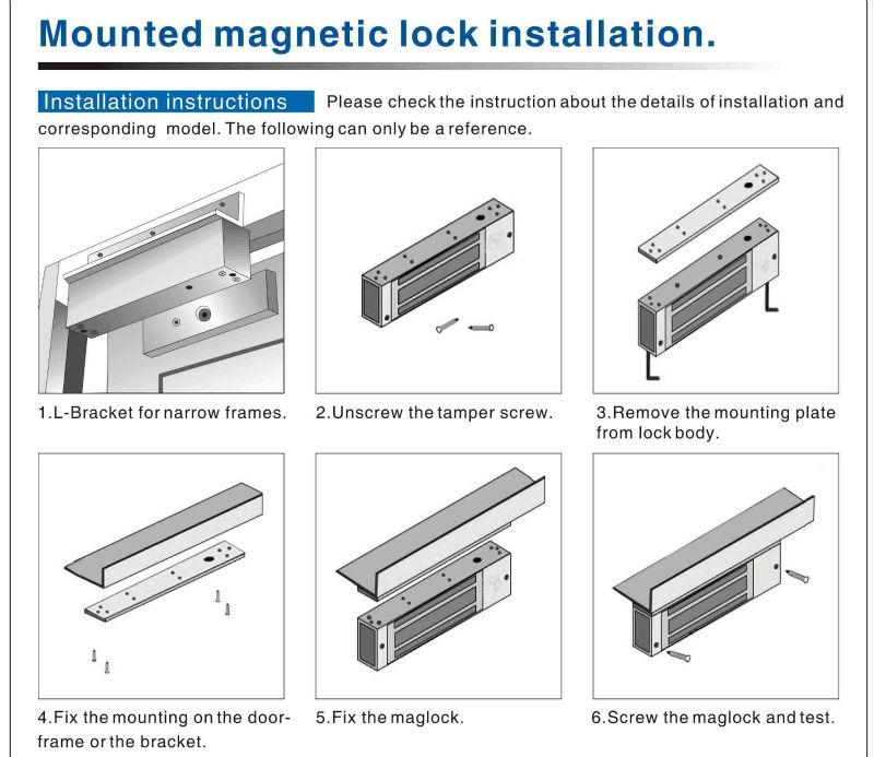 600lbs280kg Magnetic Door Lock System Protect Singledoubleand