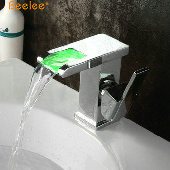 Beelee Bl0501f Modern Hydro Power Led Basin Mixer Tap Brass Single ...