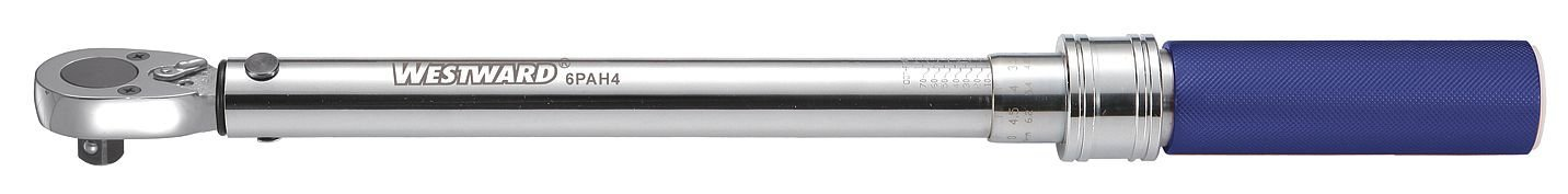 Westward 6PAG3 Torque Wrench, 1/4 In. Dr, 10-50 in.-lb.