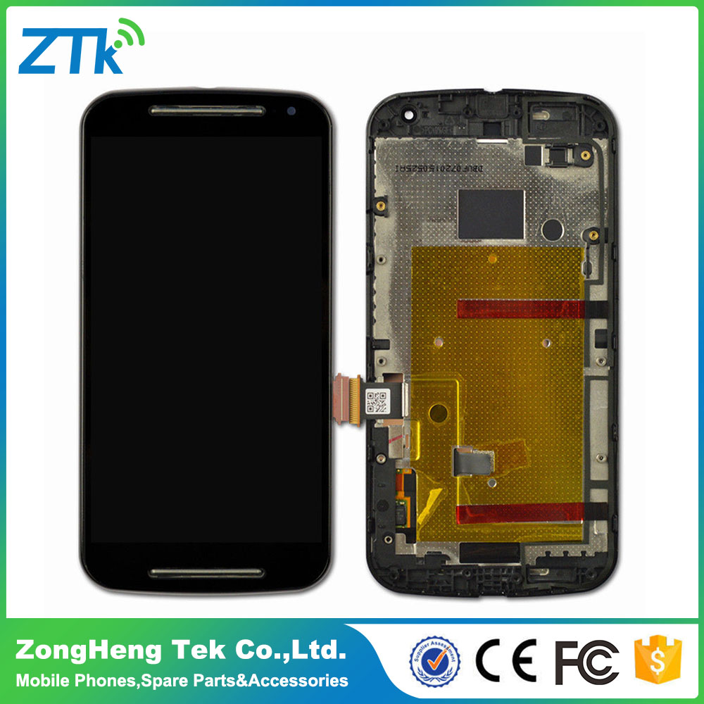 AAA quality 12 months warranty lcd touch screen for Motorola moto G 2nd black and white color