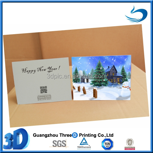 PET lenticular printing 3d greeting card