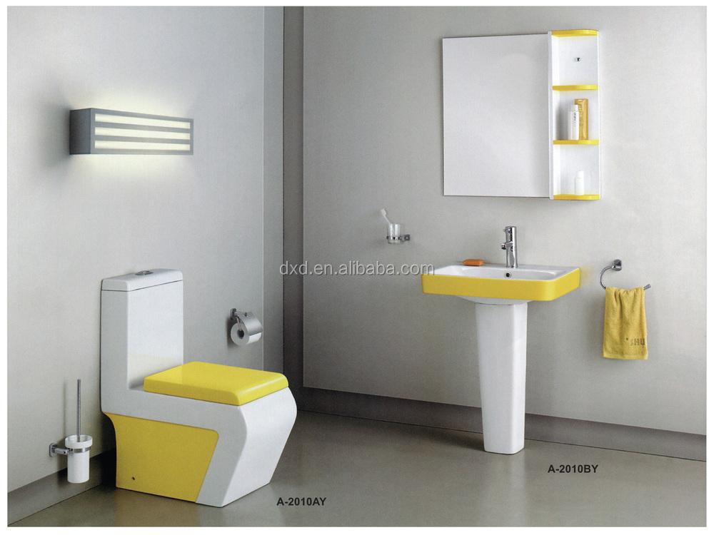 Model Bathroom hot sales model bathroom sanitary ware hindware one piece toilet