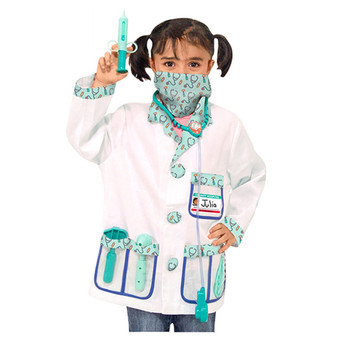 Directly factory sell children's doctors dressing up outfit carnival kids doctor role play set