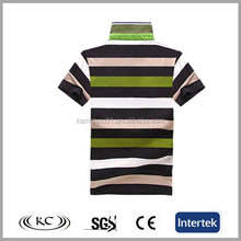 Top quality OEM appreal fashion cheap price free size 100 organic cotton custom striped mens polo t-shirt