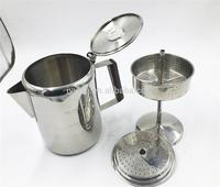 coffee accessory stainless steel percolator with plastic handle