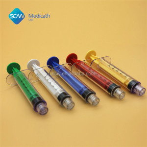 Colorful 6Ml Medical Syringe with needle 2cc