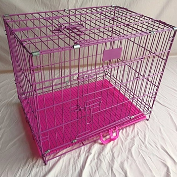 competitive price metal iron wire folding pet dog cage/dog kennel