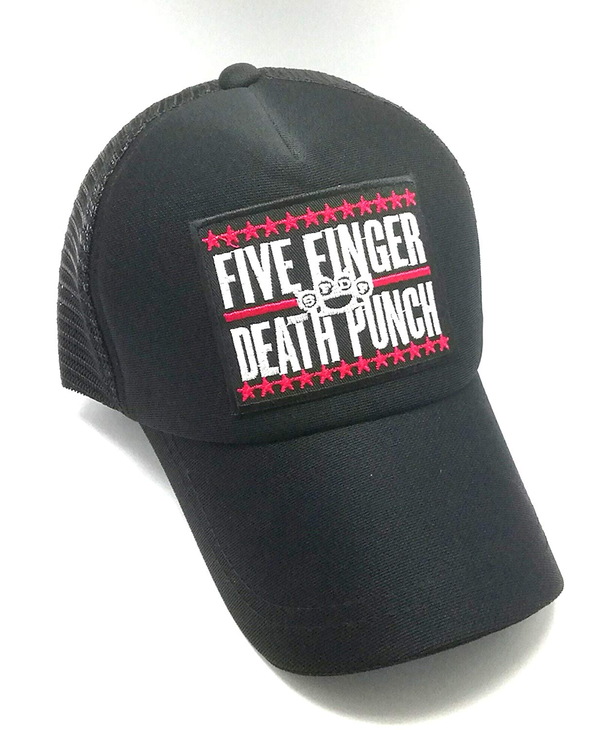 wasuphand Five Finger Death Punch 5fdp Knuckle Songs Music Band Logo Patch Metal Punk Band Logo Badge Sign Costume Cap Snapback Baseball Hat