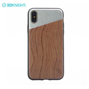 Rosewood customized couple cell phone case metal wood for iphone X masde wood
