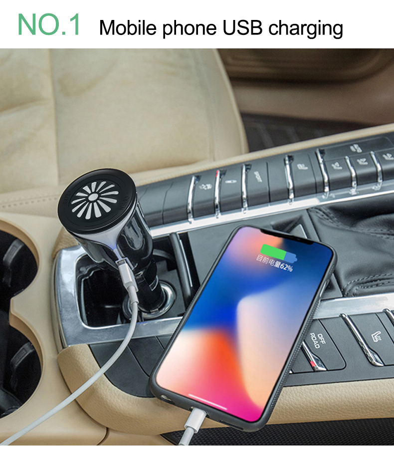 Car charger usb freshener plant balm essential oil air aroma diffuser