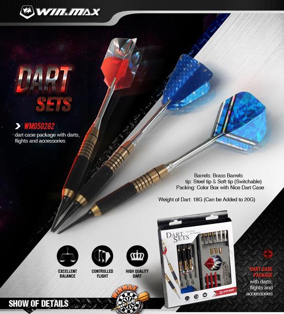 Winmax Professional Dart Games Flights And Soft Tips Dart Case  Package,Amazon Darts Flights - Buy Amazon Darts Flights,Plastic Dart