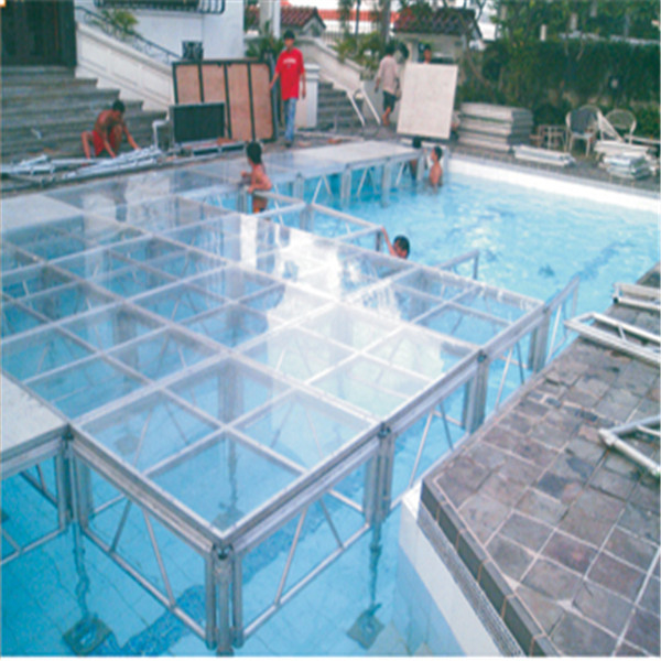 Swimming Pool Stage : Acrylic wedding stage platform swimming